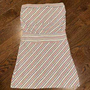 ✨LOFT Strapless Striped Sun Dress Sz S✨